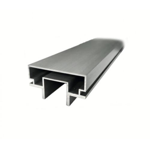 Madlo na sklo - hliníkový profil, 3000 mm - alinox